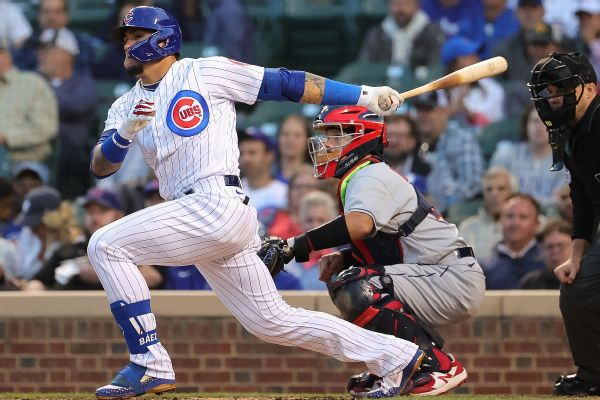 Cubs' Baez benched in loss: Lost track of the outs