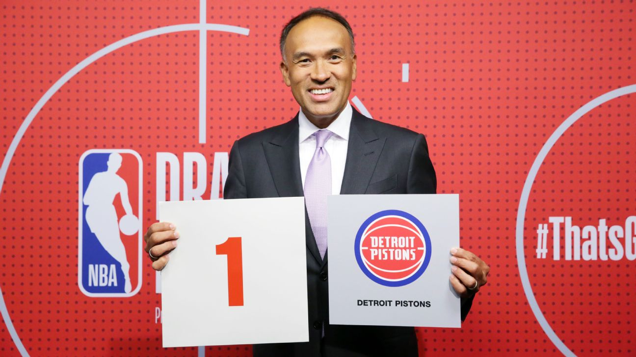 Pistons win top pick in lottery; Rockets get No. 2