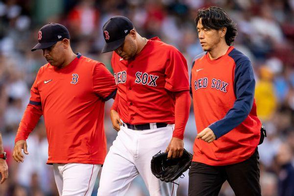 Red Sox's Rodriguez (migraine symptoms) exits
