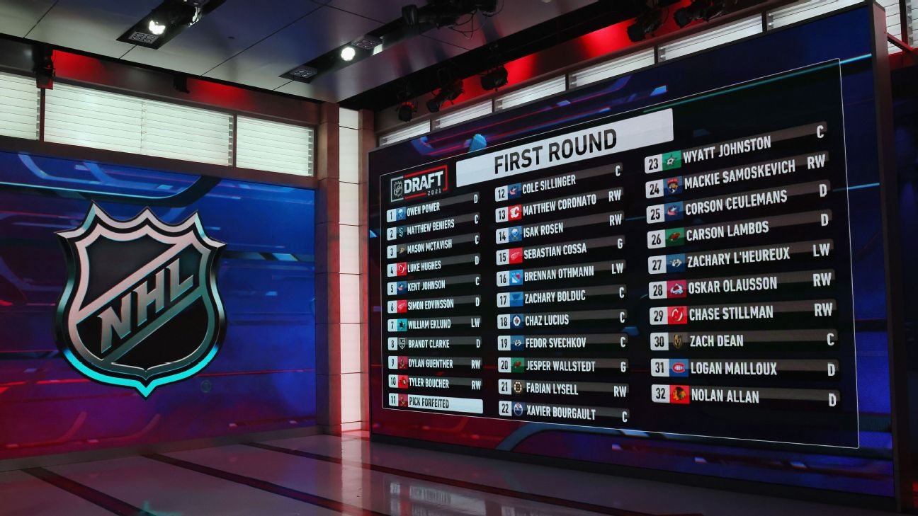 Takeaways from Day 1 of the NHL draft: Many trades, Michigan makes history
