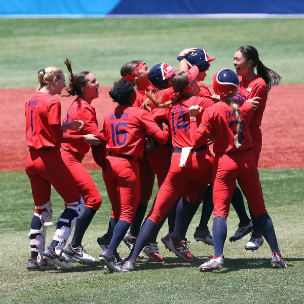 U.S. softball set to play for gold after 2-1 victory