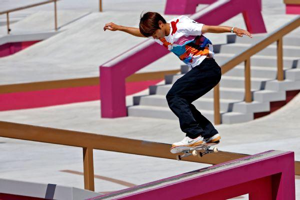 Japan's Horigome wins first skateboarding gold