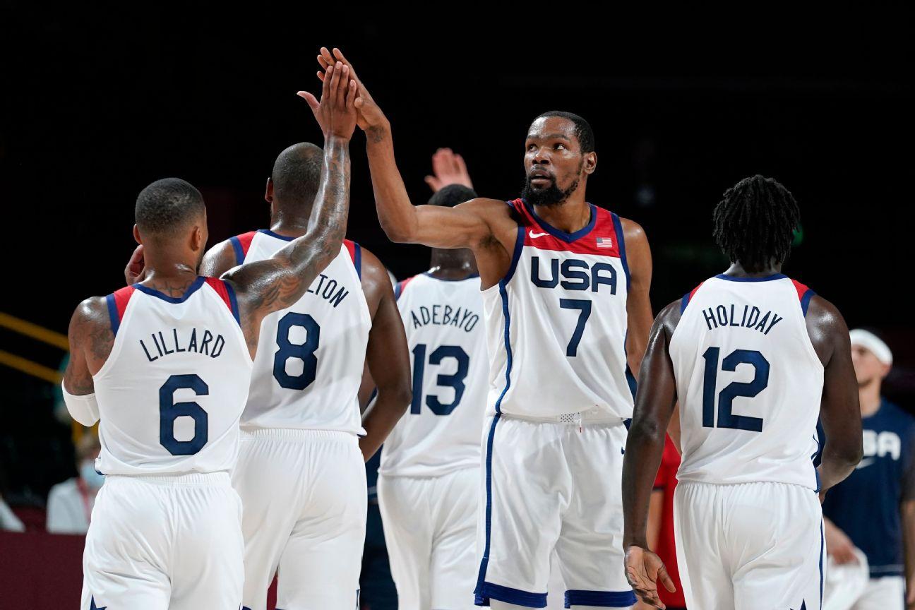 Team USA draws Spain in men's hoops quarters