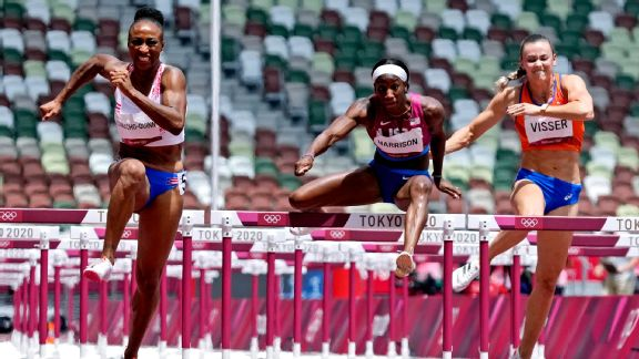 Olympics 2021 live updates: Team USA's Harrison takes silver by a sliver in 100m hurdles and more from Tokyo