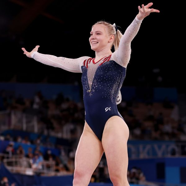 Carey claims floor exercise gold for United States