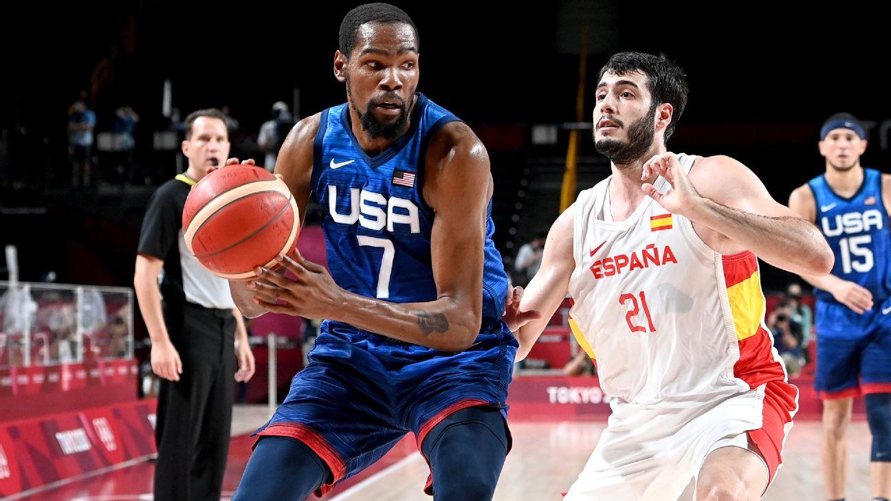 EE.UU., a semifinales de básquetbol en Tokio 2020 al eliminar a España