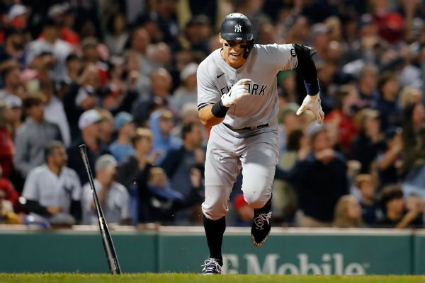 Judge, Gallo injured in wild win to sweep Red Sox
