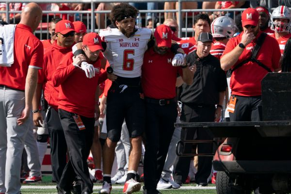 Maryland loses WR Jones for season with hurt leg