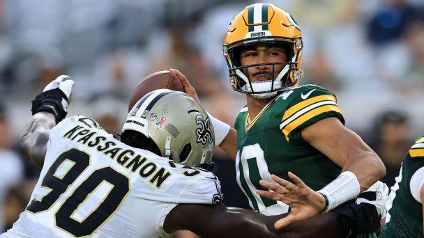 Jordan Love, Green Bay Packers, 2021, NFL
